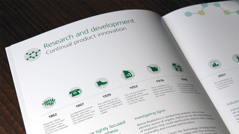 Intelligent Plastics Bioplastics & Industrial Biotechnology Marketing Material Brochure for Cleantech