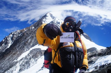 Mark Wood on Mount Everest