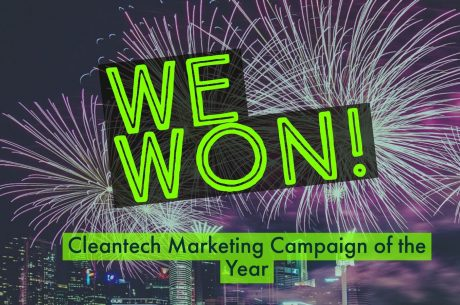 We won cleantech marketing campaign of the year!