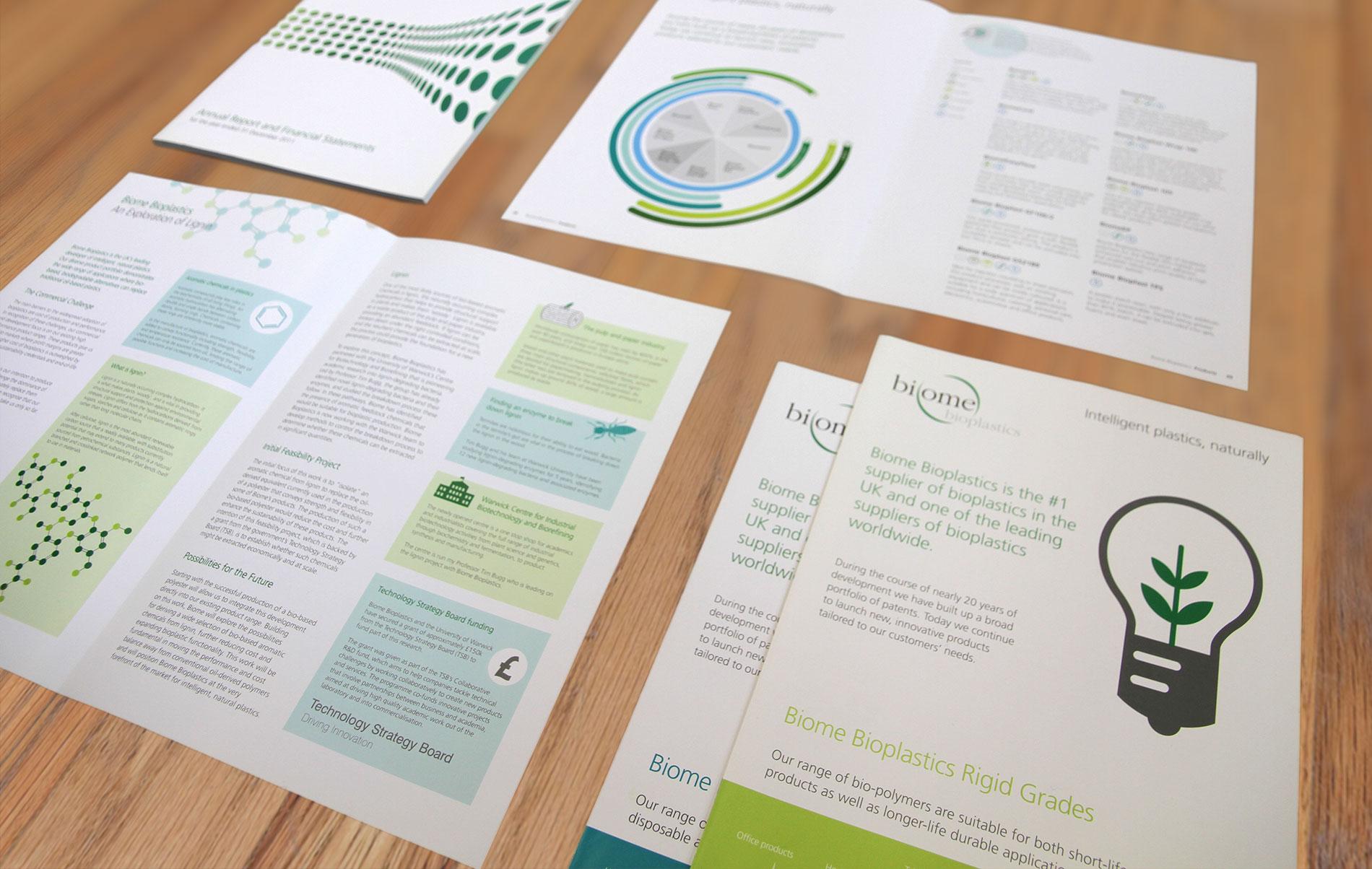 Full Marketing Material Brochure for Biome Intelligent Bioplastics & Industry Biotechnology